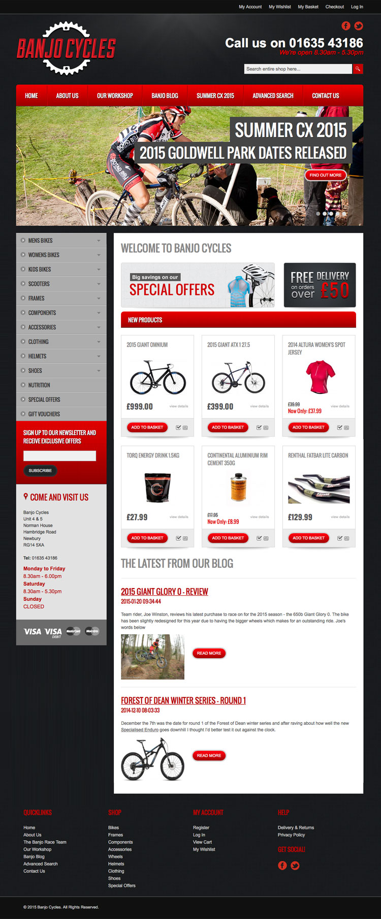 Banjo Cycles website