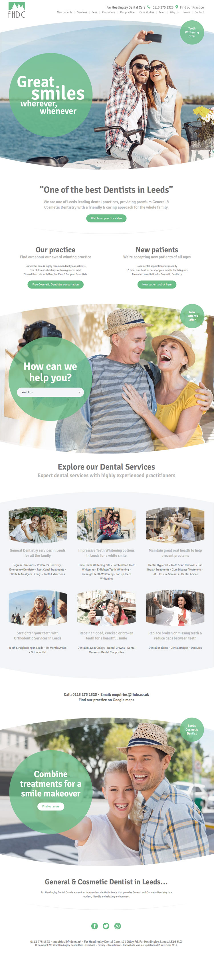 Far Headingly Dental Care website